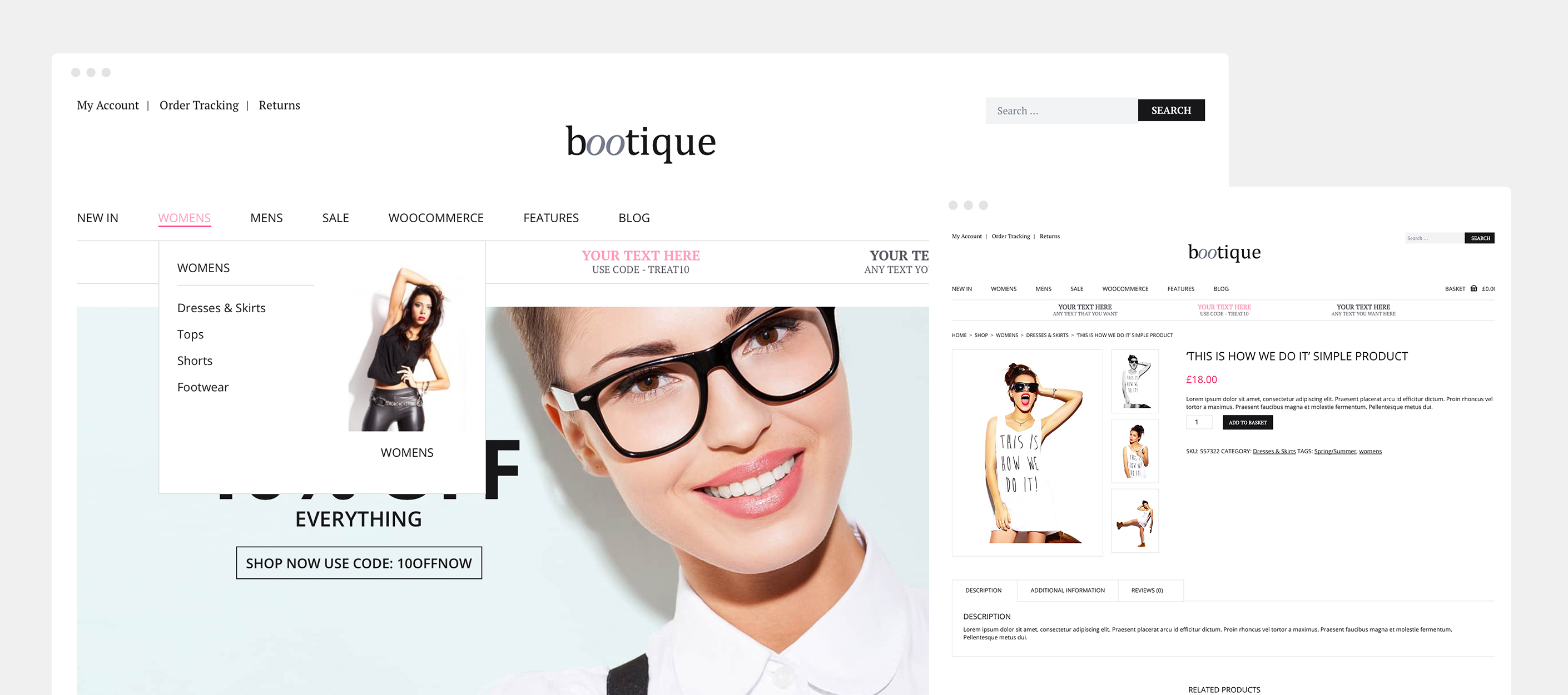 Bootique Fashion Ecommerce Website by Bamboo Manchester